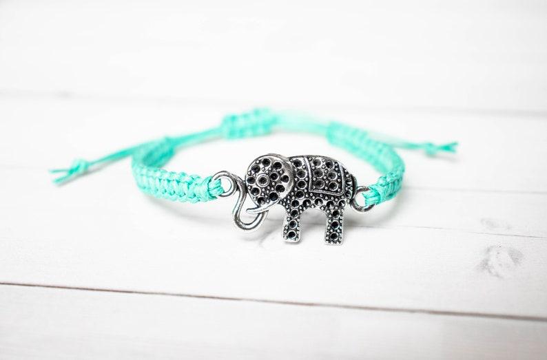 Elephant Bracelet  Elephant Jewelry Gift for Women or Men image 0