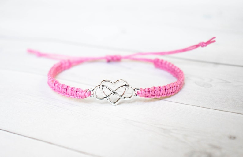 Infinity and Heart Bracelet Infinite Love Beauty Gift image 0