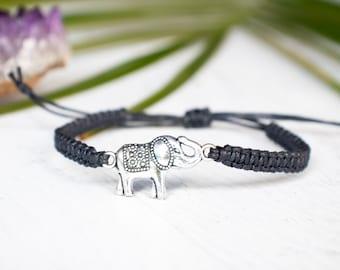 Elephant Bracelet Double Sided - Elephant Jewelry, Gift for Women or Men, Animal Jewelry, Animal Gift for Women or Men