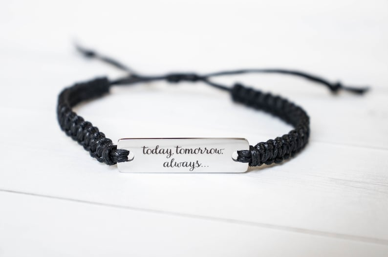 Today Tomorrow Always... Bracelet Marriage Gift Couples image 0