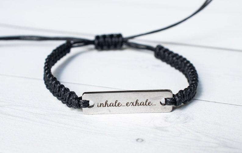 Inhale Exhale Bracelet Anxiety Bracelet Inspiration image 0