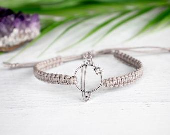 Saturn Bracelet - Planet Jewelry, Saturn Jewelry, Celestial Jewelry, Astrological, Planet Bracelet