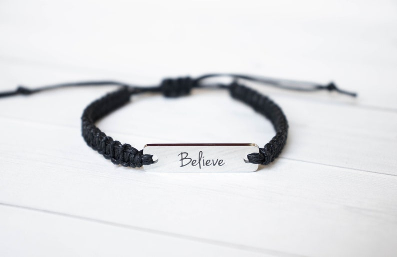 Believe Bracelet Inspiration Gift Motivation Bracelet image 0
