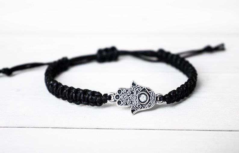 Hamsa Bracelet for Men For Women Evil Eye Hand of Fatima image 0