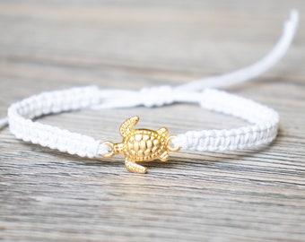 Gold Plated Turtle Bracelet,  Sealife Jewelry, Beach Gift, Girlfriend Gift, Sea Turtle Bracelet