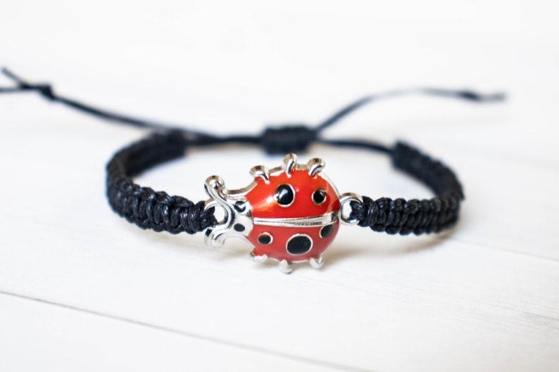 Ladybug Bracelet Bug Jewelry Animal Bracelet Wildlife image 0