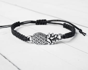 Pineapple Bracelet Beach Lovers Jewelry. Unique Gifts for Women, Hawaiian Bracelet, Gift for Women, Tropical gift idea