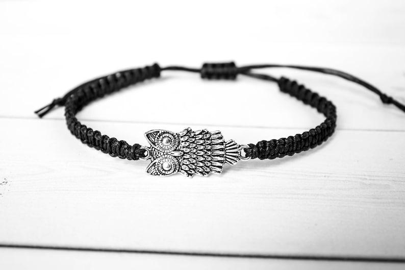 Owl Bracelet  Fashionable Gift for Women or Men Unique Gift image 0