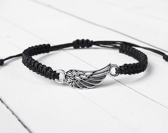 Angel Wing Bracelet, Angel Wing Jewelry, Angel Fashion , Gift for Women, Gift for Men, Remembrance Gift