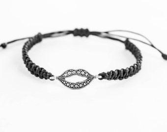 Mouth Lips Bracelet, Chic Jewelry , Fashion Bracelet, Gift for Her, Friendship Bracelet,Best Friend Gift,Women Bracelet