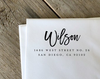custom return address stamp etsy