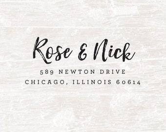 Address Stamp, Self Inking Address Stamp, Custom Address Stamp, Custom Rubber Stamp, Personalized Self Inking Wedding Stationery Stamper