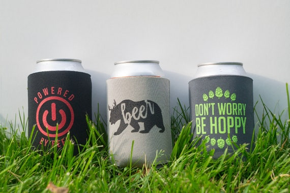 three pack Funny witty beer can cooler trio