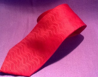 Christian Pelini Neck Tie Silk Hand Made Red