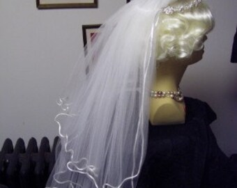 Storybook Heirlooms Veil Headpiece Rhinestones Pearls Tiara Wedding Communion