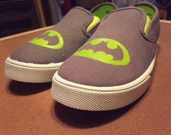 Batman Symbol Boys Canvas Shoes