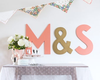 Letter Backdrop For Wedding Large Wedding Initials Set Etsy