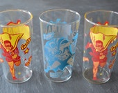 1966 Batman and Robin Glass Set