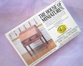 House of Miniature 40067, KIT to make a really cool Chippendale desk on frame great for so many rooms and reasons, drop-front, 2 drawers
