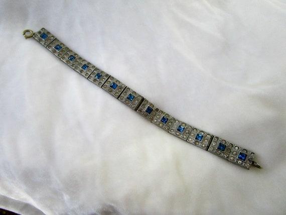 altered ALLCO tennis bracelet, vintage art deco wi