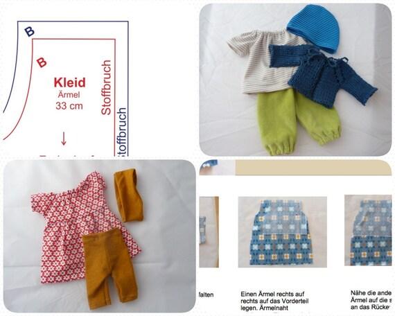 Anleitung und Schnittmuster Puppenkleidung DIY | Etsy