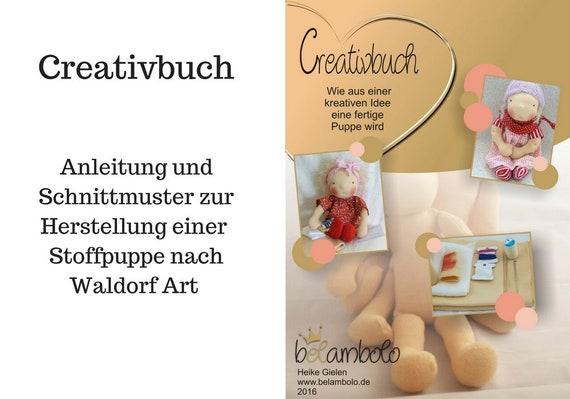 Anleitung Schnittmuster Stoffpuppe DIY | Etsy