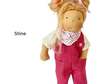 Hilda - Waldorf style rag doll, ca. 33 cm
