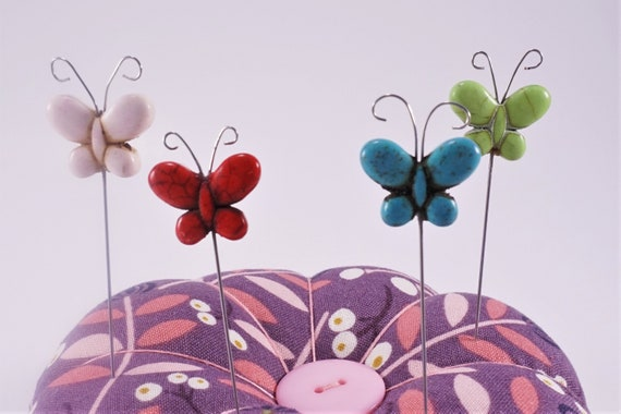 Butterfly Decorative Sewing Pins - gift for sewers