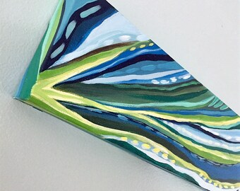 Seagrass. abstract, acrylic painting on wrapped canvas.