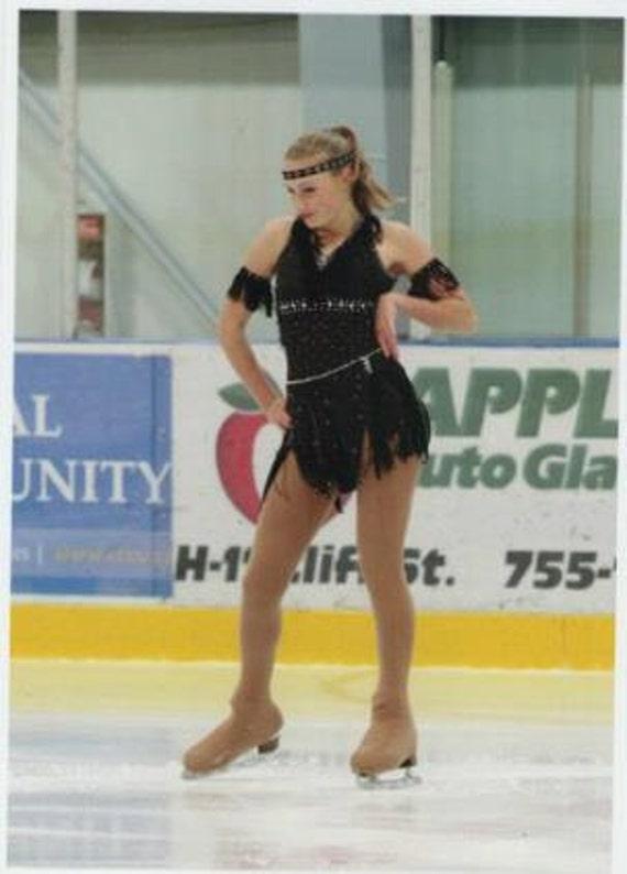 Enfants Personnalisé paillettes patinage sur glace Capuche Patins ou Sac à Dos Cadeau