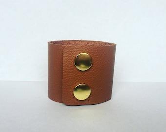 Caramel Leather Cuff