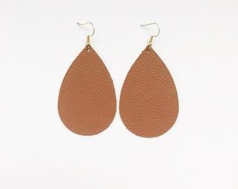 Caramel Leather Earrings
