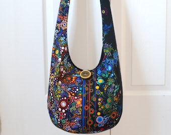 a766367721 Made to Order Hobo Bag Crossbody Bag Boho Bag Sling Bag Hippie Bag Bohemian Purse  Boho Purse Bubbles Hippie Purse Effervescence Hobo Purse