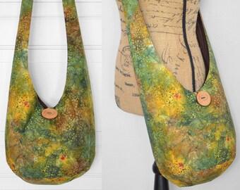 Batik Hobo Bag Crossbody Bag Cotton Boho Bag Fabric Boho Purse Fall Hippie Bag Hippie Purse Hobo Purse Sling Bag Bohemian Purse Shoulder Bag