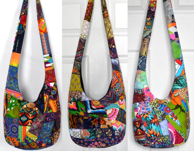 fb2e65dfa956 Hobo Bag Crossbody Bag Patchwork Boho Bag Crazy Quilt Hippie