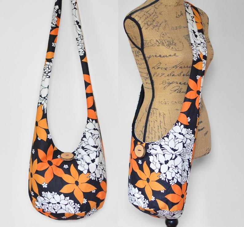 b0f4a46f1ddd1 Vintage Boho Bag Floral Hobo Bag Crossbody Bag Fabric Hippie
