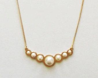 Wedding Necklace, Pearl Necklace, Pendant Pearl Necklace, Pearl Wedding Jewelry, White pearl necklace, Swarovski Pearl Necklace