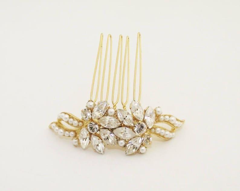 Bridal Comb Gold Hair Comb Hair Comb Decorative Comb Wedding Hair Comb Bridal Hair Accessories Crystals Hair Comb Gold Bridal Jewelry