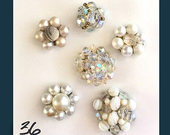 BLING Buy 4 and SAVE no. 33-36 Refrigerator MAGNETS Pink Vintage Jewelry