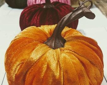Velvet Pumpkins, Fall decoration, table centerpiece, rustic wedding