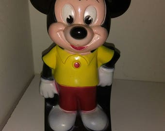 Vintage Mickey mouse piggy bank plastic ON SALE