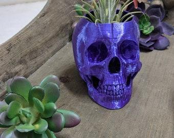 3D Printed Skull Planter for Indoor Gardening, Halloween decoration, Office desk décor