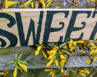 Sweet Tea farm house decor up cycled pallet sign