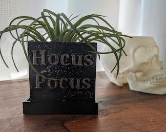 Hocus Pocus Succulent Planter Box for Indoor Gardening, Halloween Decor, 3D Printed