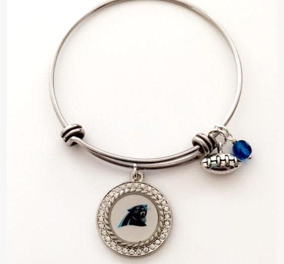 carolina panthers bracelet charm bracelet football jewelry. Black Bedroom Furniture Sets. Home Design Ideas