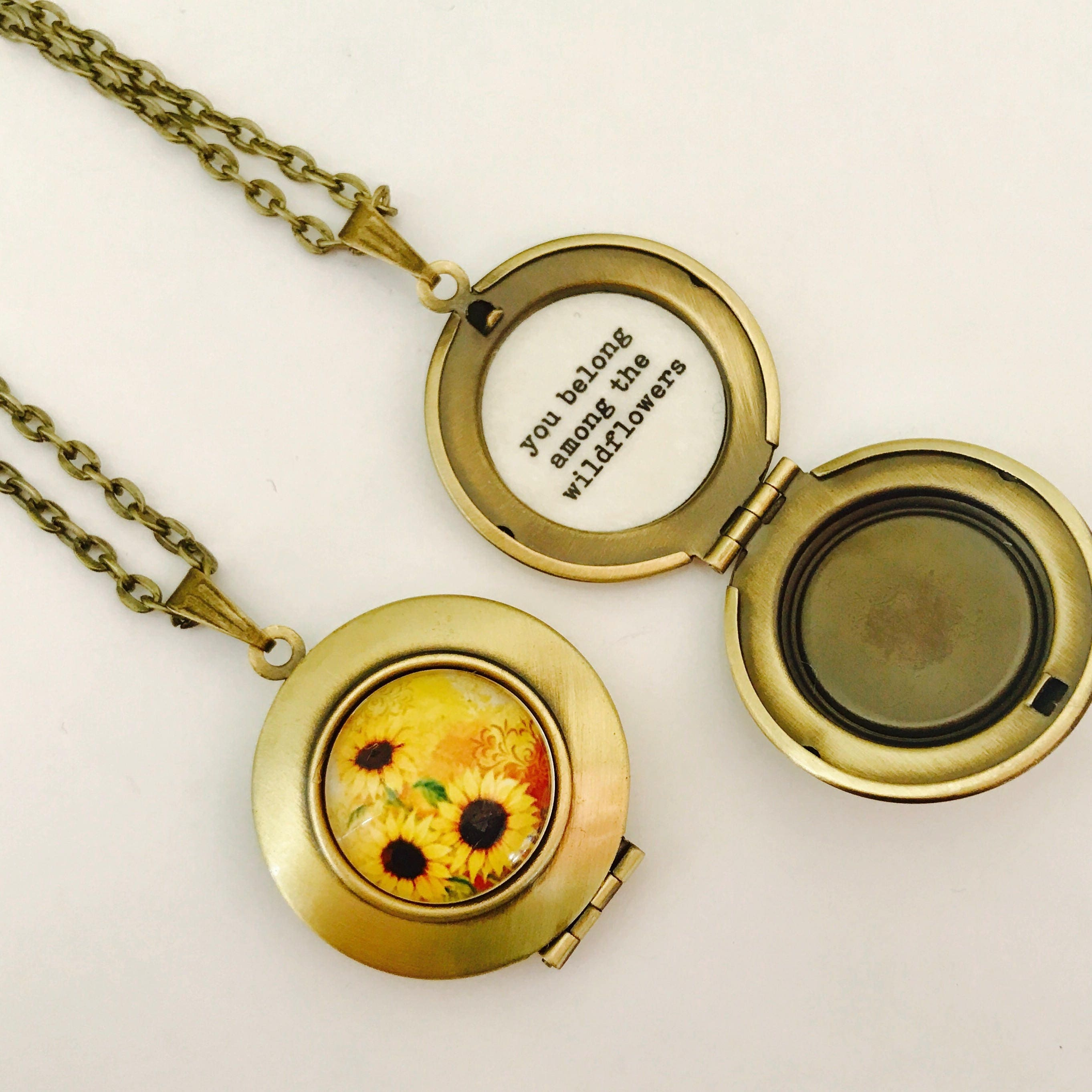 and necklace lockets sun silver sterling kid moon golden