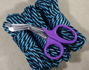 "Beginners Rope Bondage Kit (90ft! + Shears)  for Shibari or Suspension - 6mm 1/4"" Synthetic MFP Bondage Rope"