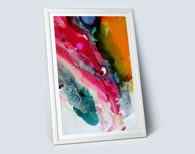 Spectrum Fluid Art Print (Unframed)