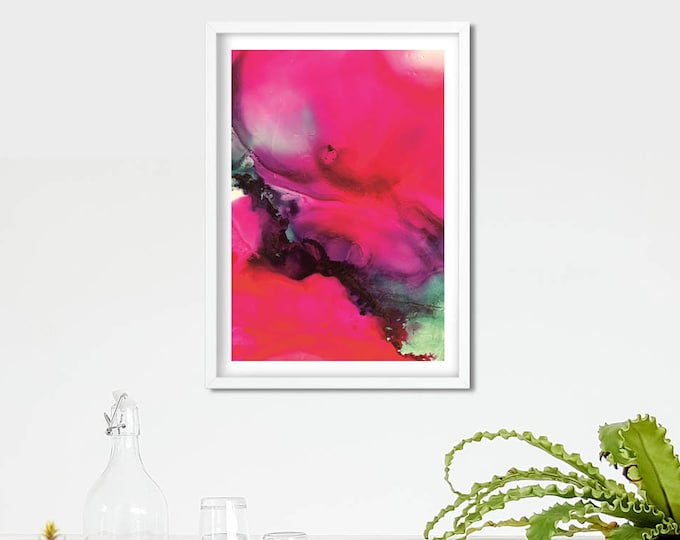 Lava Fluid Art Print (Unframed)