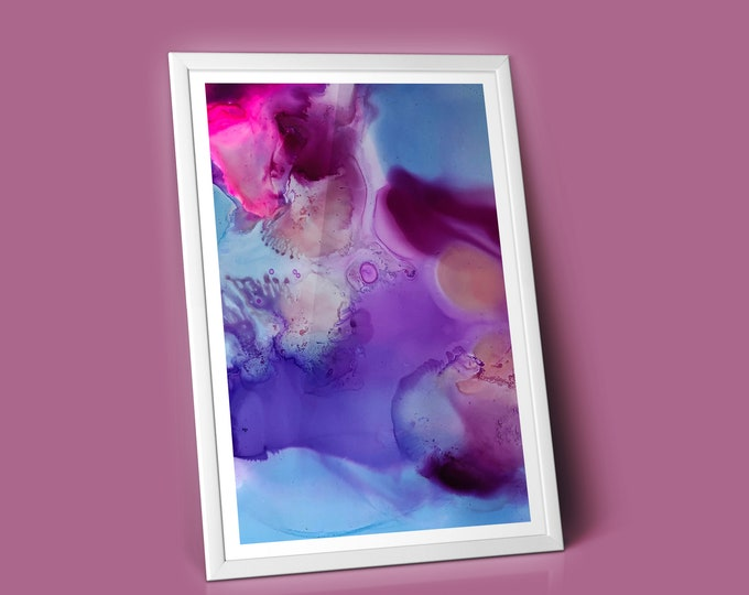 Cosmos Fluid Art Print (Unframed)